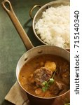 Small photo of Indian Mutton Lamb curry served with rice