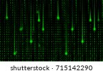 abstract matrix background... | Shutterstock .eps vector #715142290