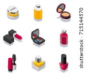 cosmetic icon set | Shutterstock .eps vector #715144570