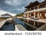 luxury tropical villa with big...   Shutterstock . vector #715150750