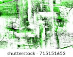green texture old distressed... | Shutterstock . vector #715151653