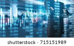 investment concept hand with... | Shutterstock . vector #715151989