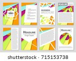 abstract vector layout...   Shutterstock .eps vector #715153738