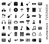 music icons | Shutterstock .eps vector #715154314