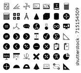 math icons | Shutterstock .eps vector #715154509
