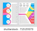 abstract vector layout... | Shutterstock .eps vector #715155373