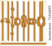 brown rope borders with... | Shutterstock .eps vector #71516095