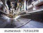 subway tunnel under... | Shutterstock . vector #715161358