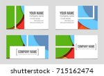 abstract vector layout... | Shutterstock .eps vector #715162474