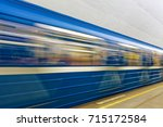 background of motion blur of... | Shutterstock . vector #715172584