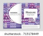 abstract vector layout house... | Shutterstock .eps vector #715178449