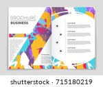 abstract vector layout...   Shutterstock .eps vector #715180219