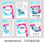 abstract vector layout... | Shutterstock .eps vector #715183120