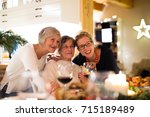 mother  grandmother and... | Shutterstock . vector #715189489