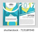 abstract vector layout... | Shutterstock .eps vector #715189540