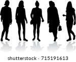silhouette of a woman. | Shutterstock .eps vector #715191613