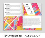 abstract vector layout...   Shutterstock .eps vector #715192774