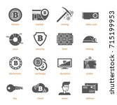 bitcoin digital money ... | Shutterstock .eps vector #715199953
