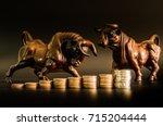 financial investment in bull... | Shutterstock . vector #715204444