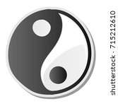 yin yang symbol of harmony and... | Shutterstock .eps vector #715212610