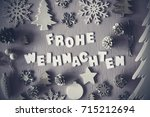 letters building german word... | Shutterstock . vector #715212694