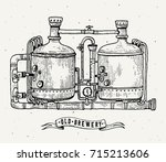 Retro Brewery Engraving. Coppe...