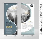business roll up design... | Shutterstock .eps vector #715213744