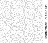 curly seamless pattern with... | Shutterstock .eps vector #715214434