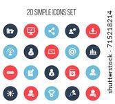 set of 20 editable network...