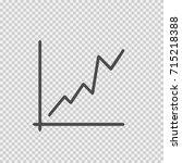 graph increase vector icon eps... | Shutterstock .eps vector #715218388