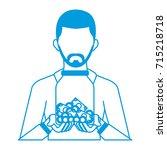 businessman avatar cartoon... | Shutterstock .eps vector #715218718