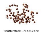 coffee beans. isolated on a... | Shutterstock . vector #715219570