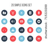 set of 20 editable song icons....