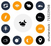 set of 13 editable air icons....