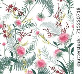 trendy  floral pattern in the... | Shutterstock .eps vector #715230718