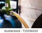 operating valve of lpg cylinder ... | Shutterstock . vector #715236310