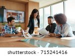 group of young business people...   Shutterstock . vector #715241416