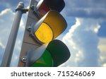 3d illustration. traffic light... | Shutterstock . vector #715246069