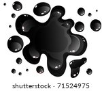 black oil spill | Shutterstock .eps vector #71524975