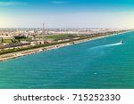 exit from the suez canal into... | Shutterstock . vector #715252330
