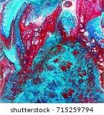 liguid watercolor and ink... | Shutterstock . vector #715259794