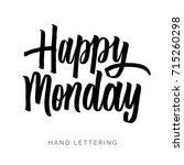 happy monday. hand drawn... | Shutterstock .eps vector #715260298