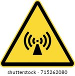 non ionizing radiation warning... | Shutterstock .eps vector #715262080