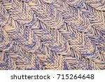 knitted wool texture background ... | Shutterstock . vector #715264648