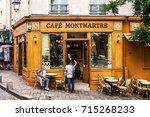 paris  france   july 06  2017 ... | Shutterstock . vector #715268233