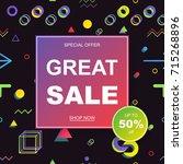 sale banner template design.... | Shutterstock .eps vector #715268896