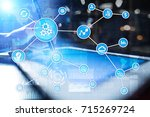 automation concept as an... | Shutterstock . vector #715269724