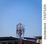 telecommunication pillar with... | Shutterstock . vector #715271224