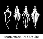 fashion models sketch hand... | Shutterstock .eps vector #715275280