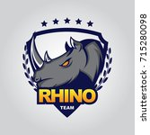 rhino logo vector for sport team | Shutterstock .eps vector #715280098